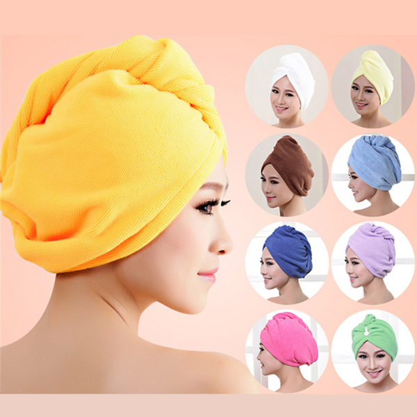1PC Newest After Shower Hair Drying Wrap Women Girls Lady's Swimming Towel Quick Dry Hat Cap Turban Bathrobe Cap Bathing Tools