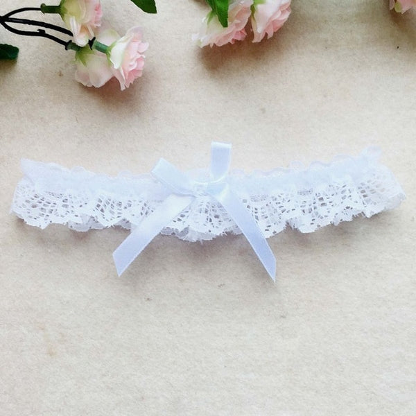 Sexy Women Girl Lace Floral Bowknot Wedding Party Bridal Lingerie Cosplay Leg Garter Belt Suspender