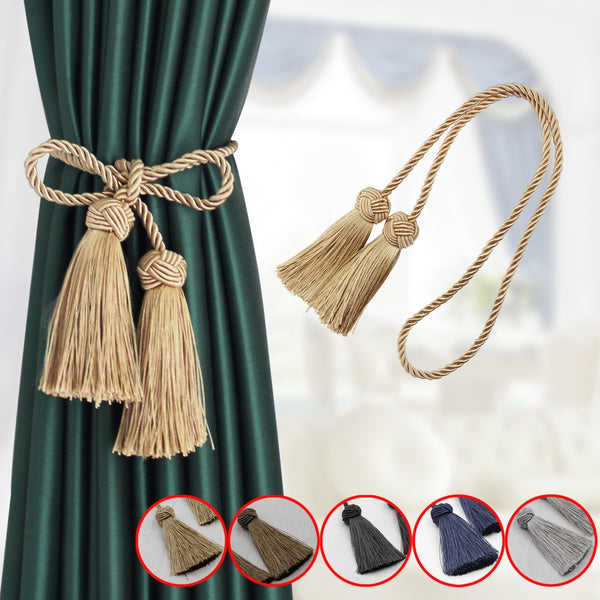 1PCS Tieback Curtain Clip Tassels Tiebacks for Curtains 9 Colors Polyester Curtain Rope Tie Backs Home Accessories Decorative