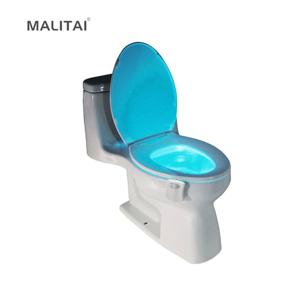 1Pcs PIR Motion Sensor Toilet Seat Novelty LED lamp 8 Colors Auto Change Infrared Induction light Bowl For Bathroom lighting