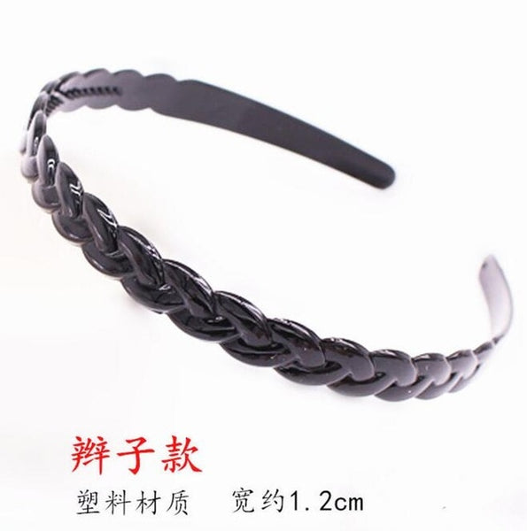 1pc Fashion Unisex Black/golden Wavy Hairband Mens Women Hair Head Hoop Bands Accessories Sport Headband Headdress Styling Tools
