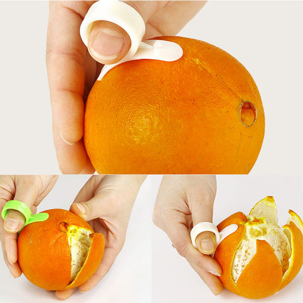 1pcs Kitchen Gadgets Cooking Tools Peeler Parer Finger Type Open Orange Peel Orange Device