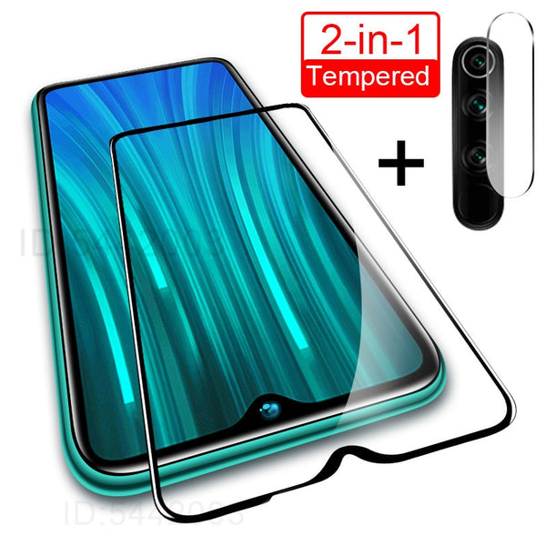 2 in 1 Camera Lens Tempered Glass For Redmi Note 9s 9 8 7 6 Pro 8A 8T Screen Protector For Xiaomi Redmi 7 7A 8 8A 8T Glass Film