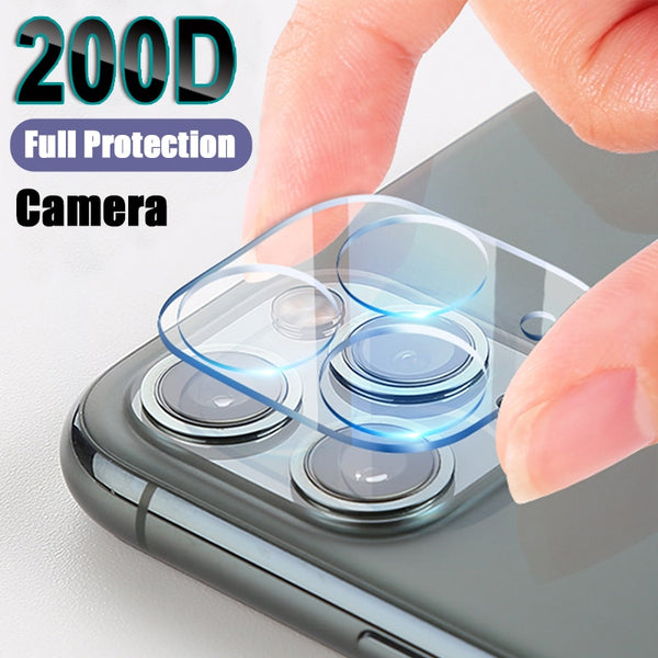 200D Camera Protection Glass For iPhone 11 Pro XS Max X XR Full Cover Lens Screen Protector For 7 8 Plus X Tempered Glass Film