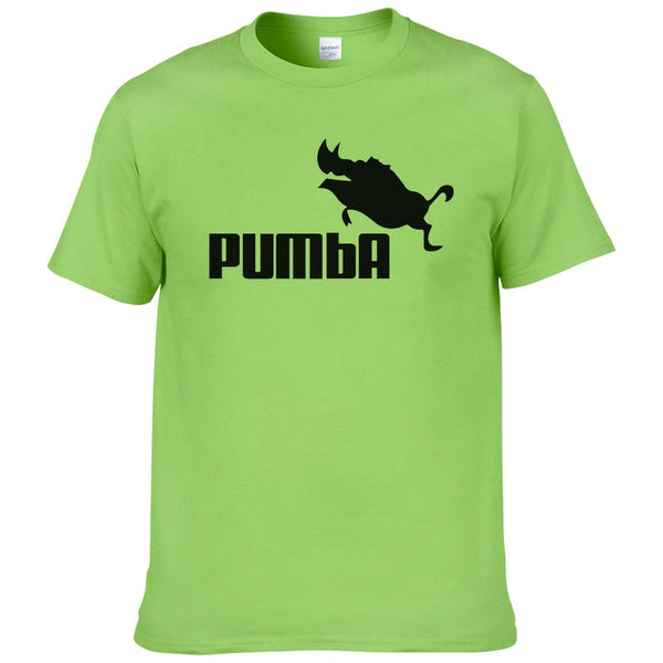 funny tee cute t shirts homme Pumba men casual short sleeves cotton tops cool tshirt summer jersey costume t-shirt #062