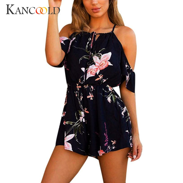 New Fashion Elegant Womens Playsuit For Holiday Ladies Summer Jumpsuit Hot Sale July0720