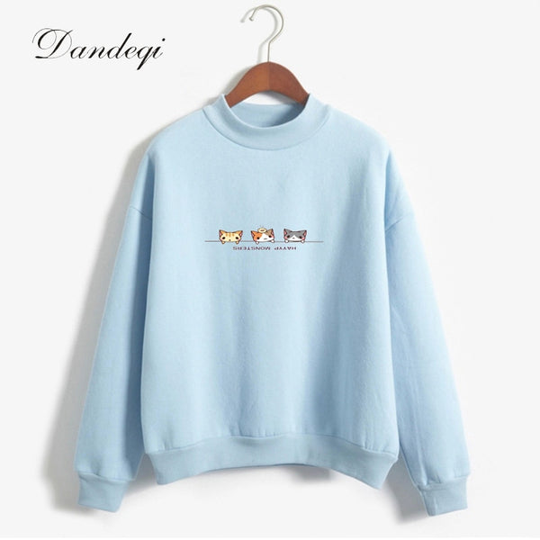 Autumn Fleece Hoodies Women Candy Color Long Sleeve Casual Thicken Sweatshirts Women Harajuku Outwear Drop Shipping