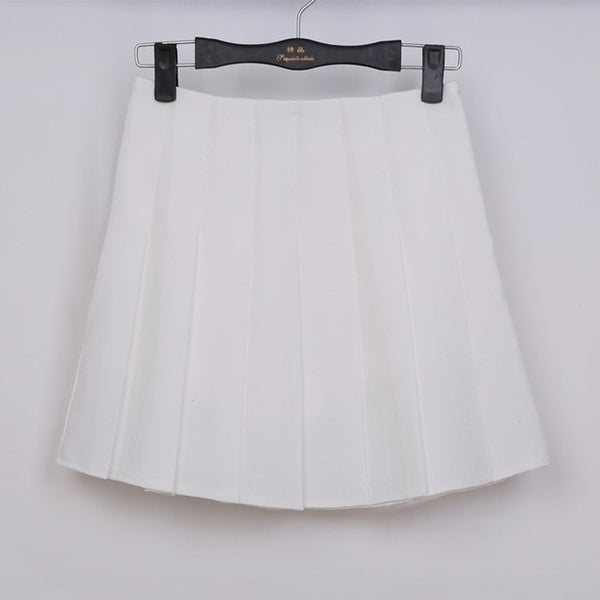 High Waist Lolita Denim Pleated skirts Harajuku girls A-line Mini Sailor Skirt Large Size Japanese school uniform Skirts