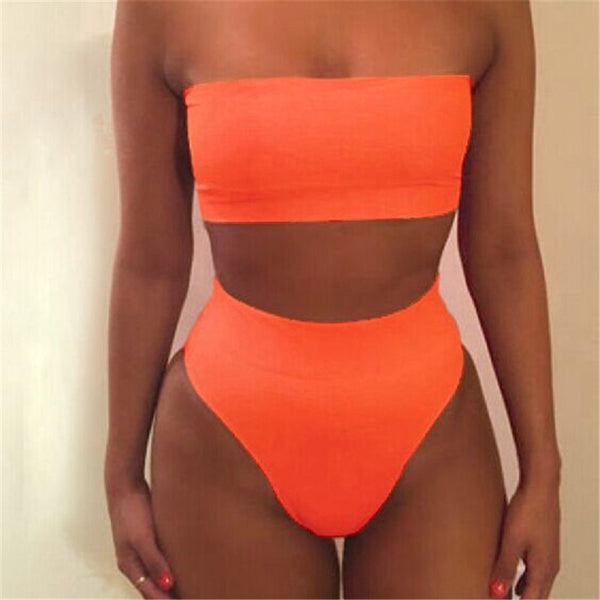 Hot Sales Women Bandage Bra Swimsuit Bathing 2pcs Set Swimwear drop shipping may12