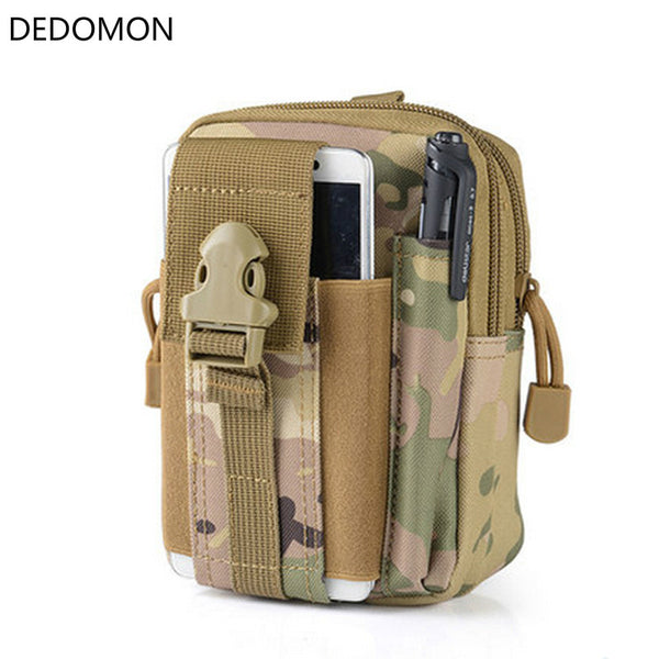 Outdoor Camping Climbing Bag Tactical Military Molle Hip Waist Belt Wallet Pouch Purse Phone Case