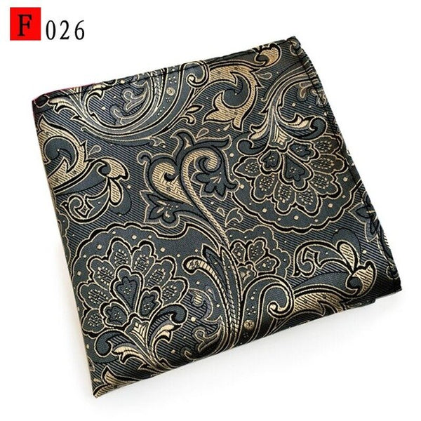 new tie handkerchief Mens Wedding paisley white men pocket squares gift ties matching handkerchiefs blue lot