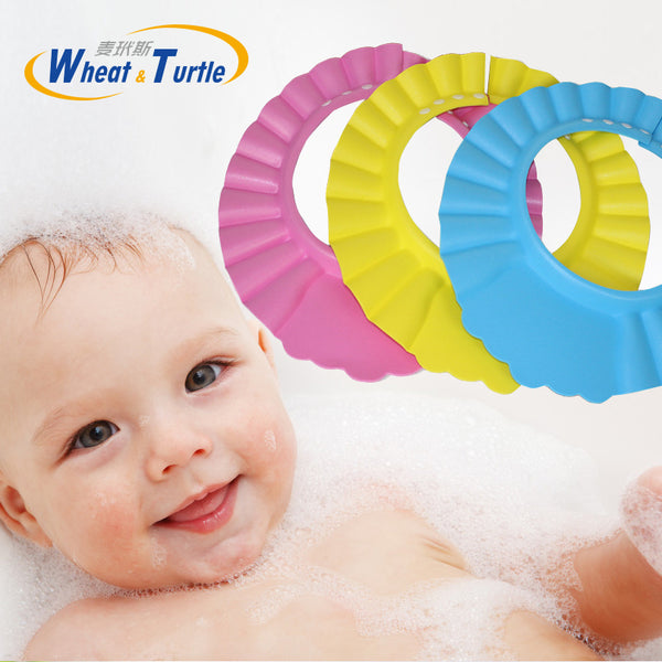 Hot Sale Baby Bath Cap Visor Hat Adjustable Baby Shower Protect Eye Waterproof Shampoo Splashguard Hair Wash Shield for Inf