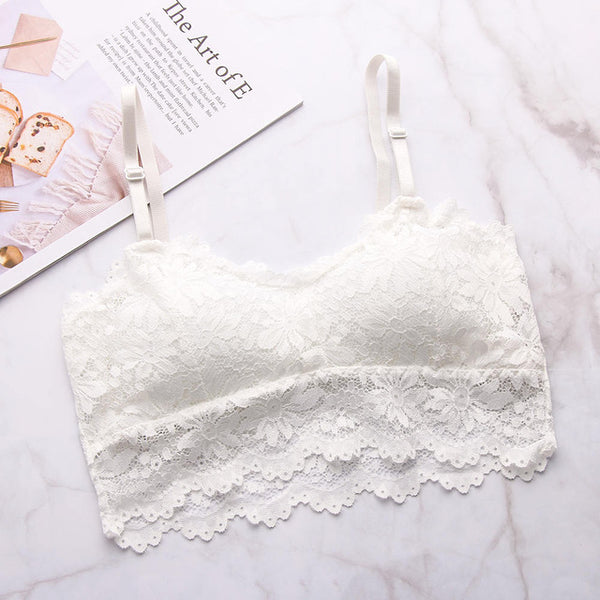 Hot Sexy Bra Female Lace Bralette Sexy Lingerie Underwear Wireless Padded Seamless Bra Ultra Strap Padded Bras for Women