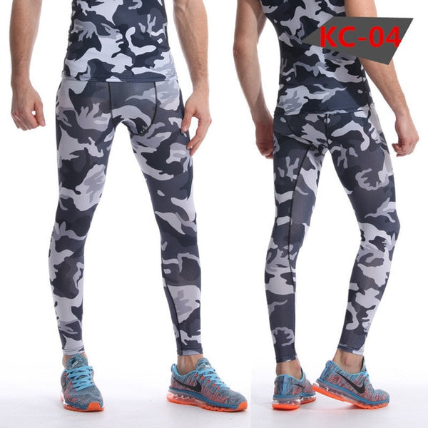 Joggers Men Compression Pants Tights Casual  Bodybuilding Man Trousers Brand Camouflage Army Fitness Gyms Skinny Leggings