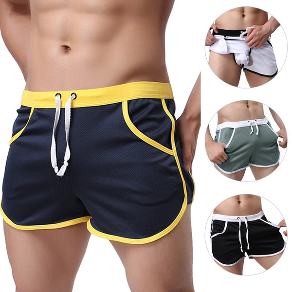 New Fashion Quick Dry Clothing Men's Casual Shorts Household Man Shorts G Pocket Straps Inside Trunks Beach Shorts