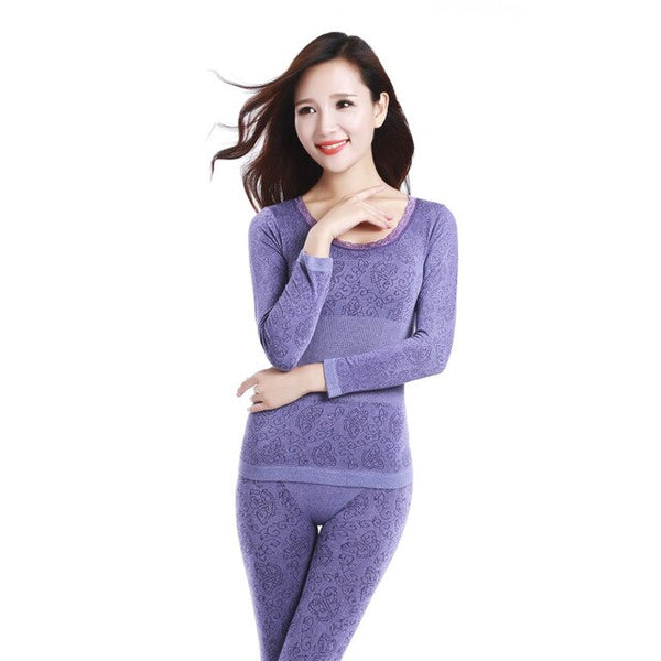 New Hot-selling Home Modal Sleepwear Waist Slim Seamless Beauty Care Clothing Thermal Underwear Women Long Johns