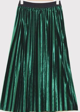 New Spring And High Waisted Skinny Female Velvet Skirt Pleated Skirts Pleated Skirt Free Shipping