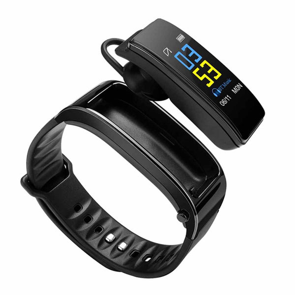 New Wearable Devices Y3 Color Headset Talk 2in1 Bluetooth Smart Wristband Bracelet Watch