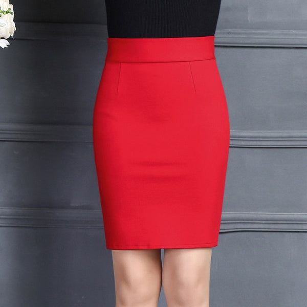 New Women Skirt Work Fashion Stretch Slim High Waist Pencil Skirt Bodycon Sexy Mini Office Work Skirt Free Shipping