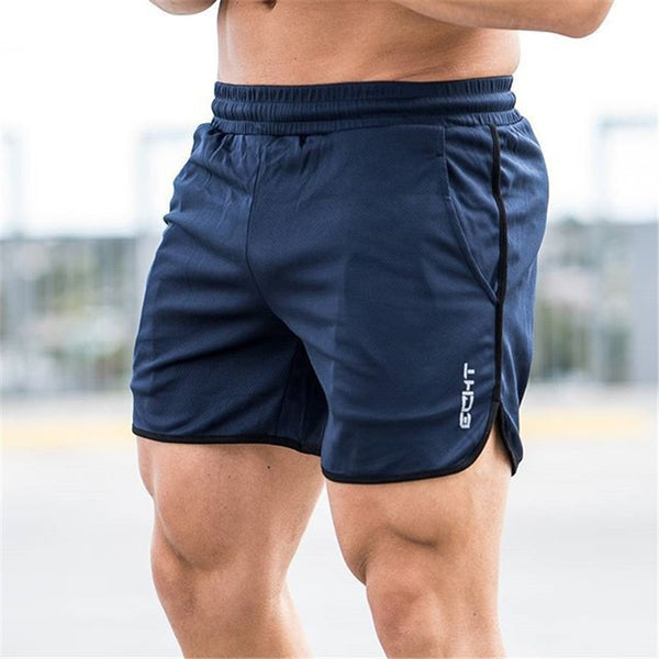 Summer Mesh Breathable Gyms Sporting Shorts Men Men's Short Homme Casual Brand Clothing Letter Elastic Waist Gyms Shorts