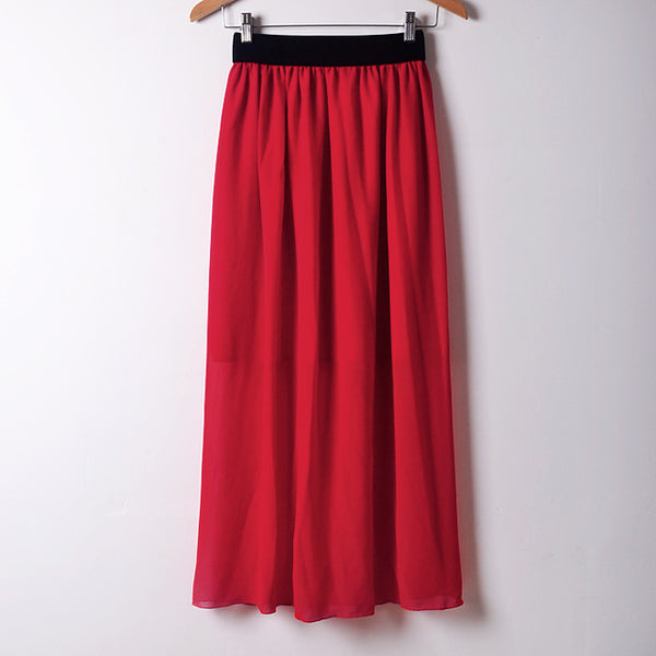 Summer style Fashion Long Maxi Skirts Newest Elastic Waist Bohemia Long-Length Women Skirts Colorful Casual Skirts