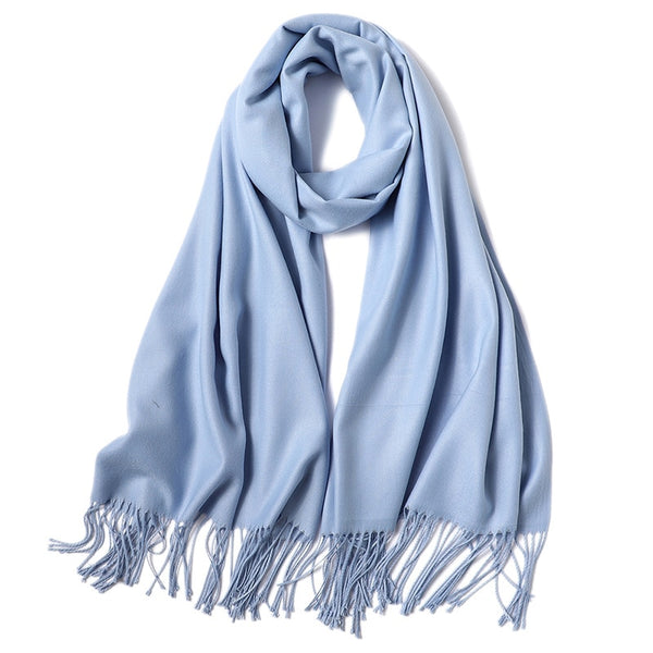 fashion summer women scarf thin shawls and wraps lady solid female hijab stoles long cashmere pashmina foulard head scarves