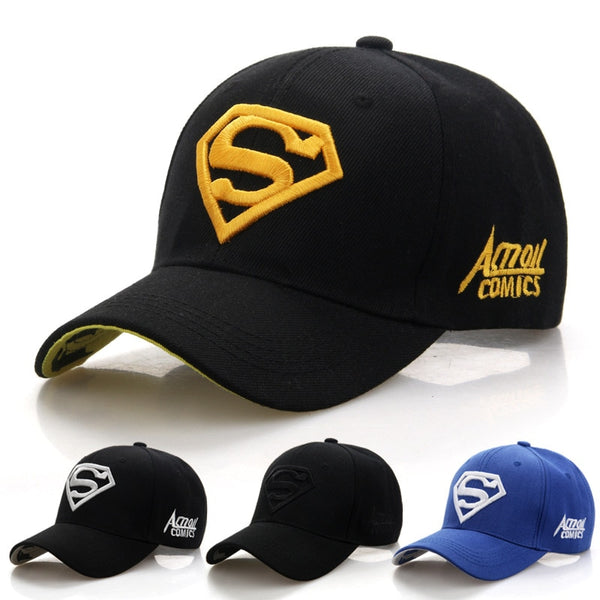 Fashion Letter Superman Cap Outdoor Baseball Caps For Men Hats Women Bone Snapback Caps For Adult Sun Hat Gorras Wholesale