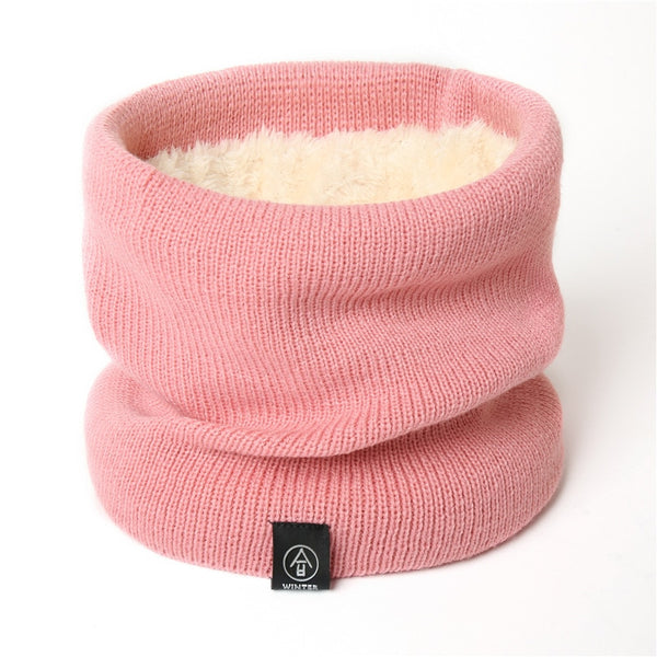 Fashion Women Knitted Scarf Solid Cashmer-like Winter Snood Scarves Lady Warm Wool Fur Thick Unisex Men Neck Scarfs ring