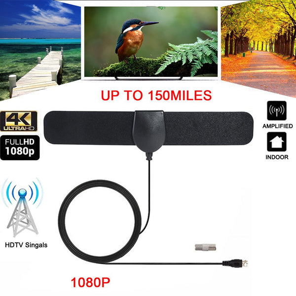 NEW 150 Mile Range Antenna TV Digital HD 4K Antena Digital Indoor HDTV Support 1080p LFX-ING