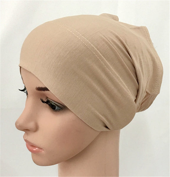 soft modal inner Hijab Caps Muslim stretch Turban cap Islamic Underscarf Bonnet hat female headband tube cap turbante mujer