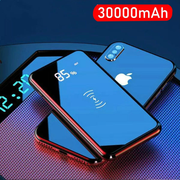 30000mah Power Bank Wireless Charger For iPhone Samsung  External Battery Bank Built-in qi Wireless Charger Powerbank Portable