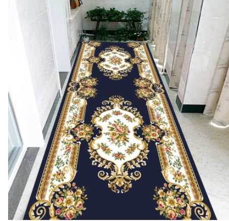 3D Floral Nordic Stair Carpet European Corridor Carpets Hotel Long Aisle Rug Home Entrance/Hallway Doormat Anti-Slip Floor Rugs