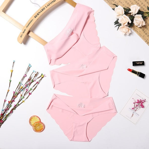 3Pcs/lot Seamless Panty Set Underwear Female Comfort Intimates Fashion Women Sexy Panties Ladies Low-Rise Briefs 6 Colors drop
