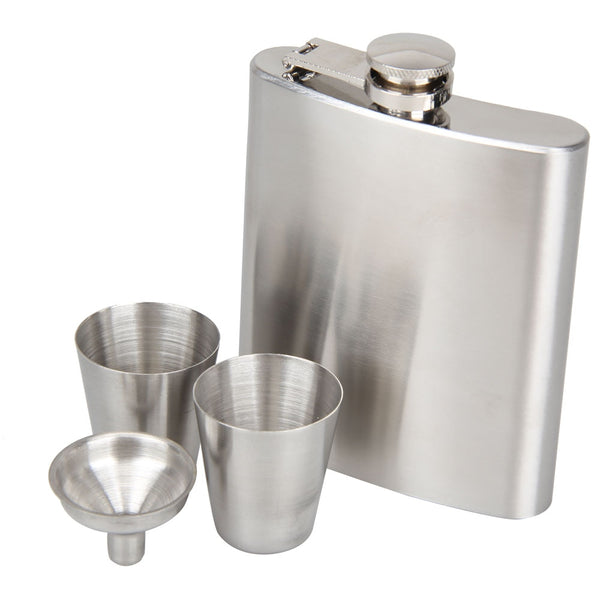 5/6/7/8/10 oz Stainless Steel Hip Flask With Funnel Hip Pocket Flagon Whiskey Brandy Vodka Pot Bottle Great Gift For Birthday