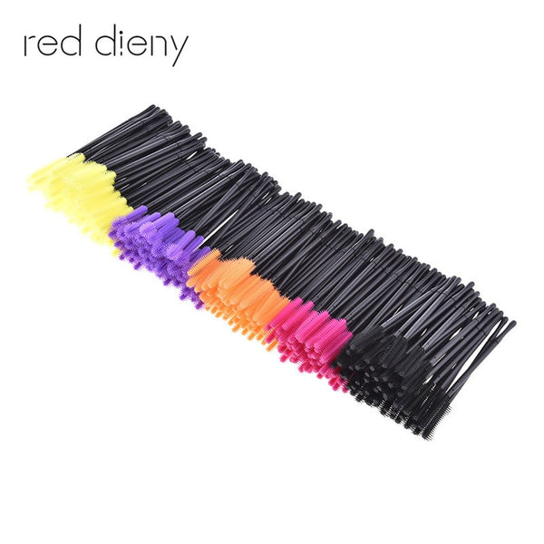 50pcs/pack Disposable Eyelash Brush Mascara Wands Applicator Eyelash Comb Makeup Brushes Individual Lash Removing Swab Micro