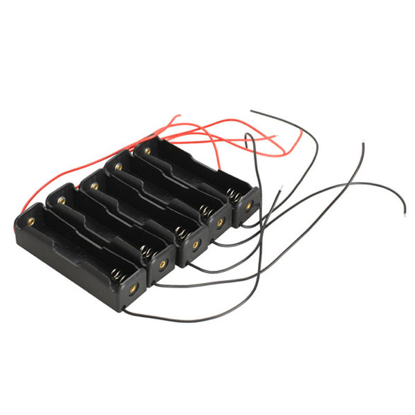 5pcs/Lot Single Slot 18650 Mobile Battery Clip Case Holder with Wire Leads DIY