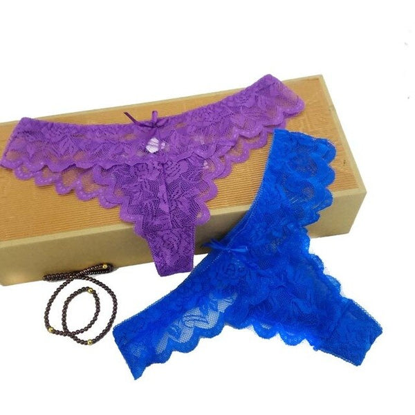 6 colors LACE Cotton Women's Sexy Thongs G-string Underwear Panties Briefs For Ladies T-back,1pcs/Lot 169