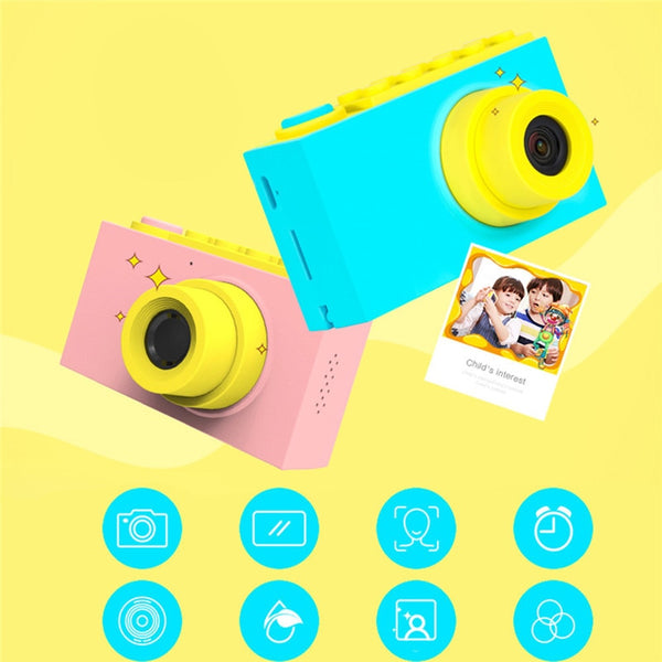 8.0MP Mini Digital Camera 2 Inch Cartoon Cute Camera Toys Children Birthday Gift 1080P Toddler Toys Camera