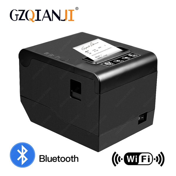 80mm thermal Receipt POS Bill printer Bluetooth Wifi USB Port kitchen POS Printer with Auto Cutter For pos system Milk tea shop