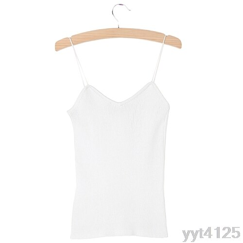 9 Colors Knitted Bustier Crop Top Women V Neck Elastic Tube Tank Tops Knit Beach Sexy Camis Crop Tops Female Solid Camis Sweater