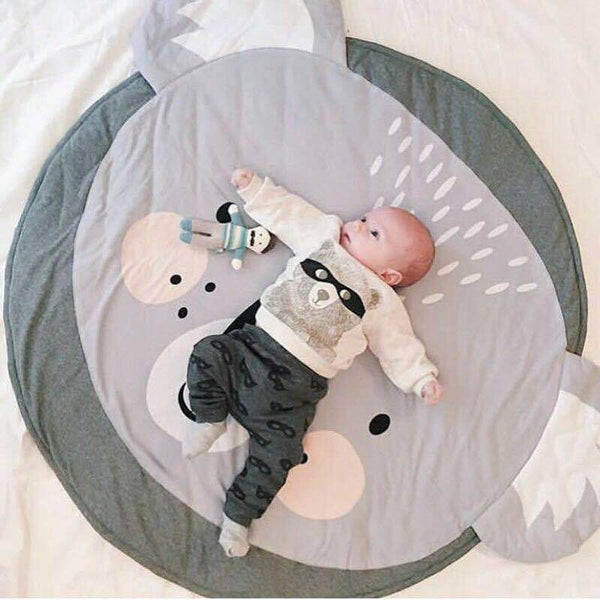 90CM Kids Play Game Mats Round Carpet Rugs Mat Cotton Swan Crawling Blanket Floor Carpet Toys Room Decoration INS Baby Gifts