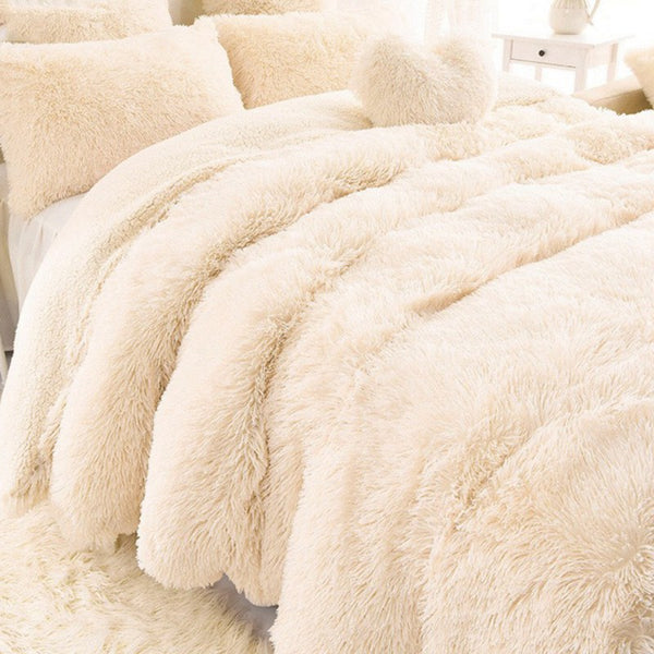 AAG New Arrival Luxury Long Shaggy Throw Blanket Bedding Sheet Large Size Warm Soft Thick Fluffy Sofa Sherpa Blankets Pillowcase