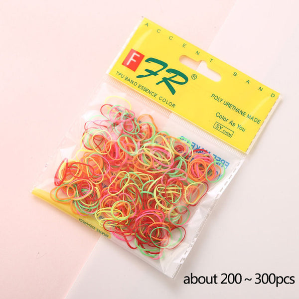AIKELINA 1000pcs/bag (small package) New Child Baby TPU Hair Holders Rubber Bands Elastics Girl's Tie Gum Hair Accessories