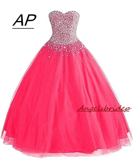 ANGELSBRIDEP Ball Gown Quinceanera Dresses With Rhinestones 15 Party Quinceanera Gowns Sparkly Beading Debutante Gowns Hot