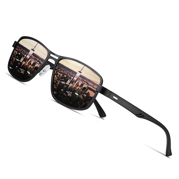 AOFLY Brand Fashion Sunglasses Men Polarized Square Metal Frame Male Sun Glasses Driving Fishing Eyewear zonnebril heren