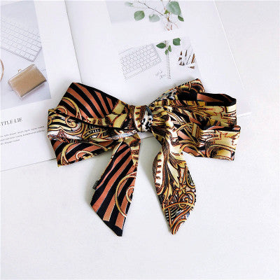 AOMU Korea New Small Square Satin Printing Animal Scarf Head Neck Scarf Elegant Women's Hair Tie Band Wrap Handkerchief