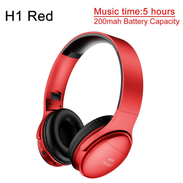 AWI H1 Bluetooth Headphones Wireless Headset Stereo Over-ear Noise Canceling Earphone Gaming Headset with Mic Support TF Card