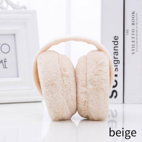 All-match Girls Ear Cover Cold Proof Heating Earmuffs Plush Foldable Keep Warm Winter Style Women Headwear