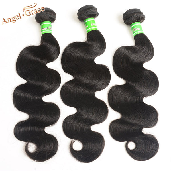 Angel Grace Hair Brazilian Body Wave Bundles 1/3/4 pcs lot 100% Human Hair Bundles Extensions Remy Hair Weave Bundles 100g/pc