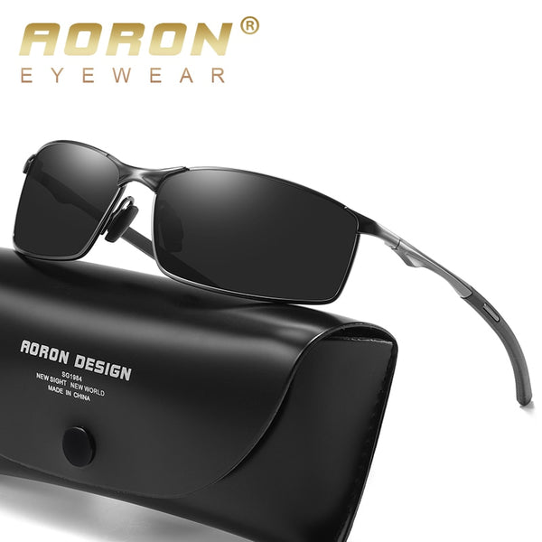 Aoron Mens Polarized Sunglasses for Sports,Outdoor Driving Sunglasses Men,Metal Frame Sun Glasses gafas de sol hombre